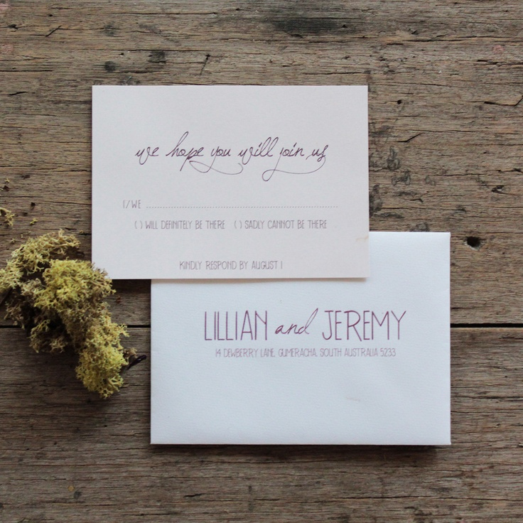 Homemade Wedding Invitation for best invitation design