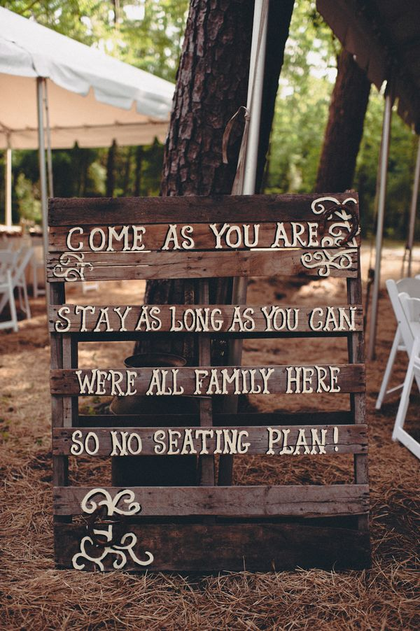 Diy rustic wedding ideas for Sign decoration