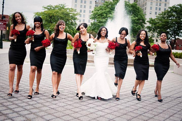 big wedding party