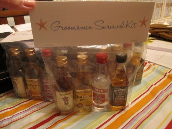 Wedding Gift Idea For Groomsmen : they give a small gift to the groomsmen in their wedding. The gift ...